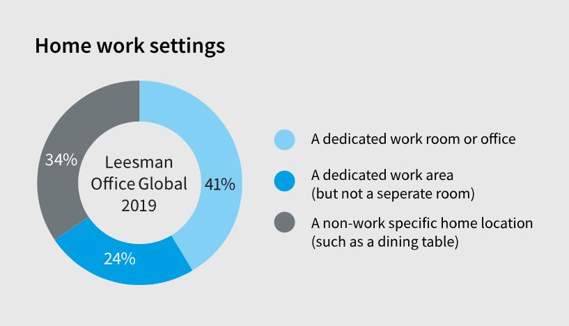 Podatki raziskave o urejenosti domačega delovnega mesta pred epidemijo